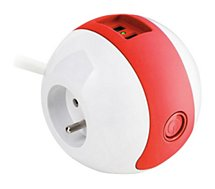 Multiprise Watt And Co  Wattball Blanc - Rouge