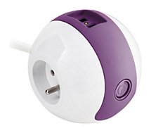 Multiprise Watt And Co  Wattball Blanc - Violet