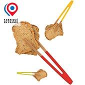 Pince Pebbly à toast aimantée en bambou