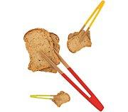 Pebbly Pince à toast aimantée en bambou