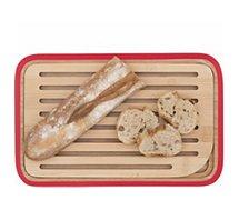 Planche à pain Pebbly à pain Rouge 28X18 ramasse miette