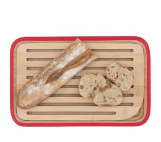 Pebbly à pain Rouge 28X18 ramasse miette