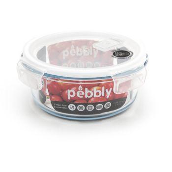 Pebbly ronde en verre borosilicate 950ml