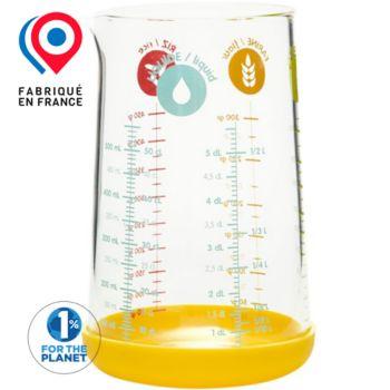 Pebbly mesureur en verre avec silicone