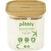 Boîte de conservation Pebbly Boite en verre carre avec couvercle