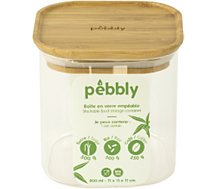 Boîte alimentaire Pebbly  Boite en verre carre avec couvercle