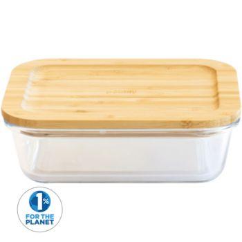 Pebbly Plat/boite rectangulaire en verre a