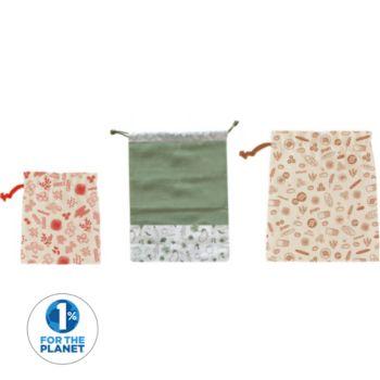 Pebbly x 3 en coton biologique 1 sac a leg