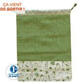 Lunch bag Pebbly a legumes en coton biologique vert