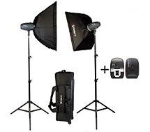 Kit d'éclairage Starblitz  Kit studio 2x400W