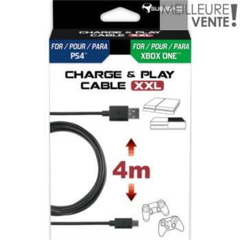 Subsonic Cable Charge & Play 4m PS4/Xbox One