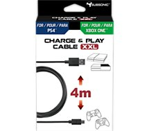 Câble de recharge Subsonic Cable Charge & Play 4m PS4/Xbox One