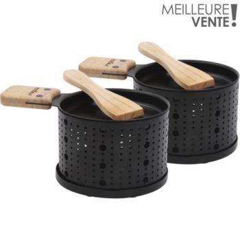 Cookut Raclette à la bougie 2 personnes noir