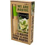 Coffret Cookut  Mojito pailles en verre + un livre