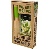 Coffret cuisine Cookut Mojito pailles en verre + un livre