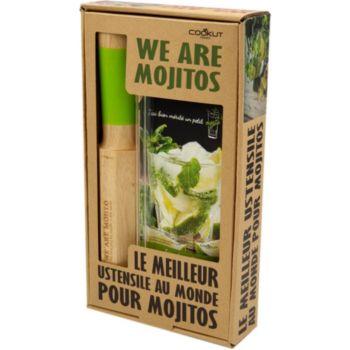 Cookut Mojito pailles en verre + un livre