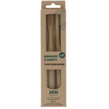 JCH de 3 brosses à dents en bambou