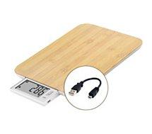 Balance de cuisine Little Balance  sans pile USB Energy véritable bambou