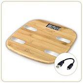 Pèse personne impédancemètre Little Balance Bambou Connect-4