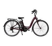 Vélo électrique Velair  City - Rouge bordeaux