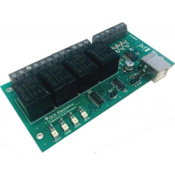 Gce Electronics Carte USB X440 4 entrées AD et 4 sorties