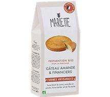Préparation pour gâteau Marlette  Bio pour Gateau amande et financier