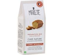 Préparation pour gâteau Marlette  Bio pour Cake Nature au Sucre de Ra