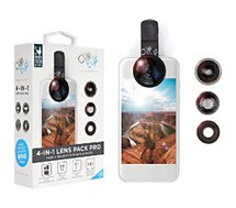 Objectif smartphone Clipeyz  Pack 4x Objectifs Photo Smartphone noir
