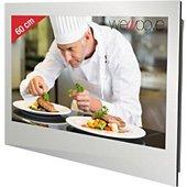 TV LED Wemoove TV cuisine 23,8'' étanche avec ferrures