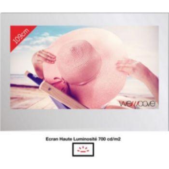 Wemoove TV miroir 43'' étanche avec encastrement