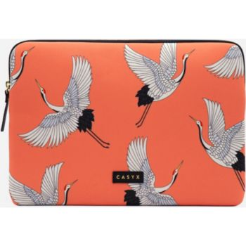 Casyx Pour PC ou Macbook 15'' Coral Cranes
