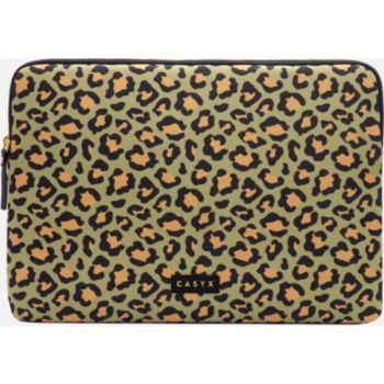 Casyx Pour PC ou Macbook 15'' Olive Leopard