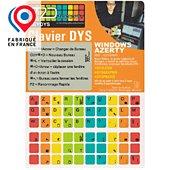 Sticker clavier R2dtooldys Dyslexique Windows