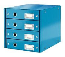 Bloc tiroir Leitz Bloc de classement WOW 4 tiroirs Bleu