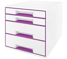 Bloc tiroir Leitz  Bloc de classement tiroirs WOW Violet