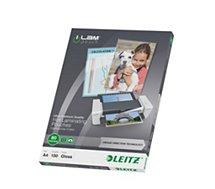 Consommable de bureau pour plastifieuse Leitz Pochettes 80 UDT A4 boite de 100
