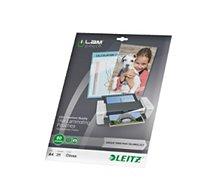 Consommable de bureau pour plastifieuse Leitz Pochettes 80 UDT A4 boite de 25