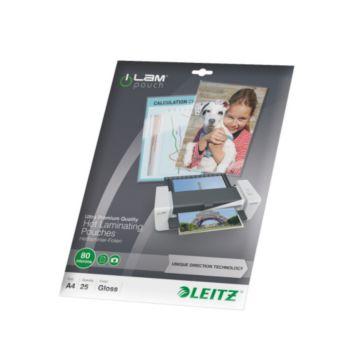 Leitz Pochettes 80 UDT A4 boite de 25