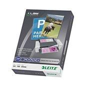 Consommable de bureau pour plastifieuse Leitz Pochettes 250 UDT A4 boite de 100