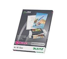 Consommable de bureau pour plastifieuse Leitz Pochettes 125 UDT A3 boite de 100