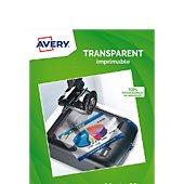 Papier créatif Avery 15 Transparents 90 microns jet d'encre