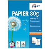Papier ramette Avery  500 Feuilles multi-usage 80g/m²