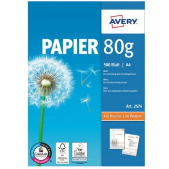 Avery 500 Feuilles multi-usage 80g/m²