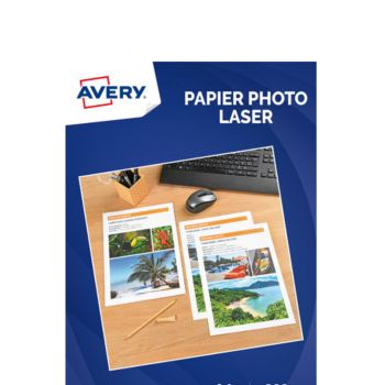 Avery 50 Feuilles papier photo brillant laser