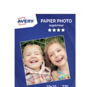 Papier photo Avery 50 Photos brillantes 10x15 230g/m²
