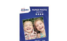 Papier photo Avery 50 Photos brillantes 10x15 230g/m²