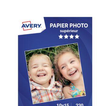Avery 50 Photos brillantes 10x15 230g/m²