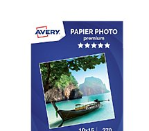 Papier photo Avery  40 Photos brillantes 10x15 270g