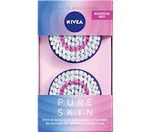 Brossette de rechange Nivea Pure Skin Kit Peaux sensibles X2
