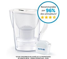 Carafe filtrante Brita MARELLA blanc + 1 cartouche Maxtra+